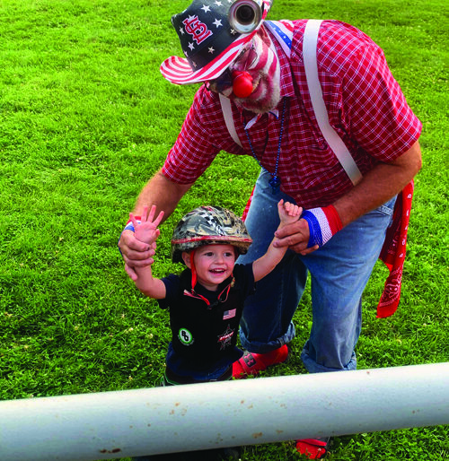Mutton-Busting continues to be a successful event at the Franklin Fourth of July festivities, even for littler ones.