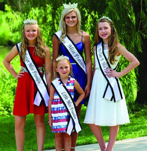 2021 Franklin royalty: Miss Franklin Kaylee Ford, Junior Miss Franklin Jaycee Hopper, Pre-Teen Jr. Miss Franklin Gracie Geer and Little Miss Franklin Hadley Turpin.