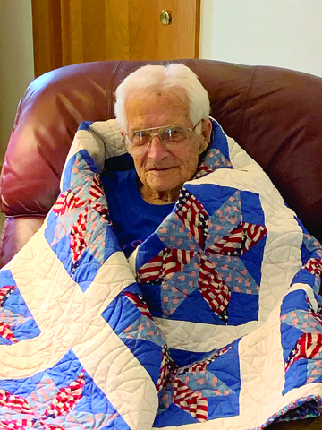 Area man given Quilt of Valor