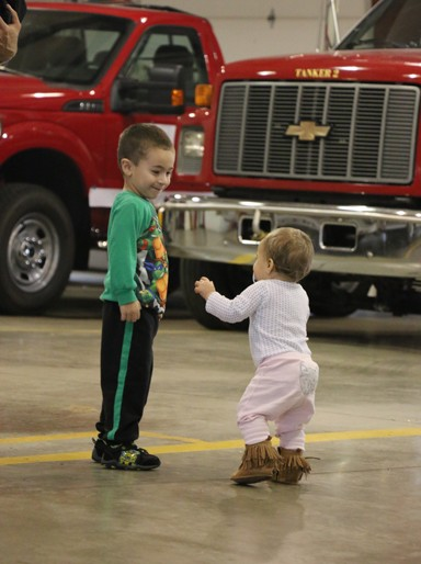 Photo/Kyla Hurt. The 11th Annual South Jacksonville Fire Department Auxiliary Christmas Cookie Walk was a sellout. The event also proved to be a treat for kids who were able to get a close look at fire trucks and simply have some fun in the fire station.