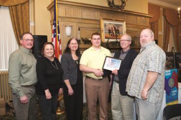 Jacksonville Rotary Club awards Sgt. Matthew Weikert Memorial Scholarship to JHS Student Joshua Smith